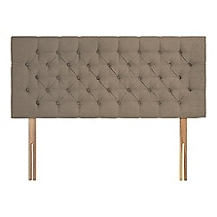 Sleepeezee - Camel plush velvet 'Button' headboard