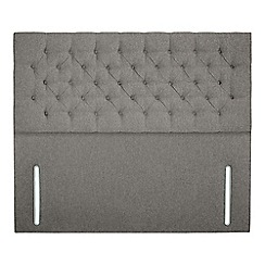 Sleepeezee - Light grey flat weave 'Chester' headboard