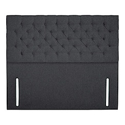 Sleepeezee - Dark grey flat weave 'Chester' headboard
