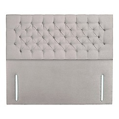 Sleepeezee - Light grey plush velvet 'Chester' headboard