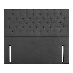 Sleepeezee - Dark grey plush velvet 'Chester' headboard