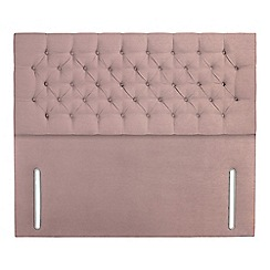 Sleepeezee - Light pink plush velvet 'Chester' headboard