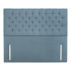 Sleepeezee - Light blue plush velvet 'Chester' headboard