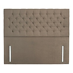 Sleepeezee - Camel plush velvet 'Chester' headboard