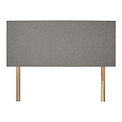 Sleepeezee - Light grey flat weave 'Brie' headboard