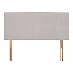 Sleepeezee - Light grey plush velvet 'Brie' headboard