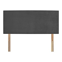 Sleepeezee - Dark grey plush velvet 'Brie' headboard