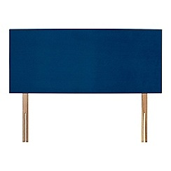 Sleepeezee - Navy plush velvet 'Brie' headboard