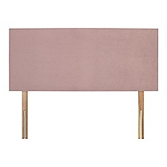 Sleepeezee - Light pink plush velvet 'Brie' headboard