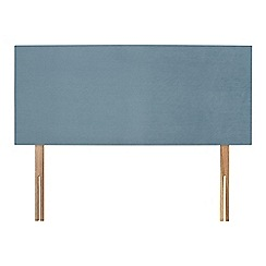 Sleepeezee - Light blue plush velvet 'Brie' headboard
