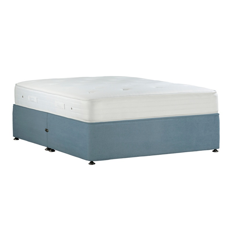debenhams light pink 39 studio basics 39 plush velvet no storage divan bed with mattress. Black Bedroom Furniture Sets. Home Design Ideas