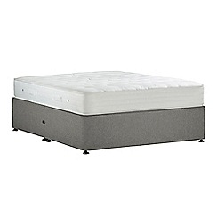 Debenhams - Light grey 'Studio Pocket Ortho' flat weave no storage divan bed with mattress