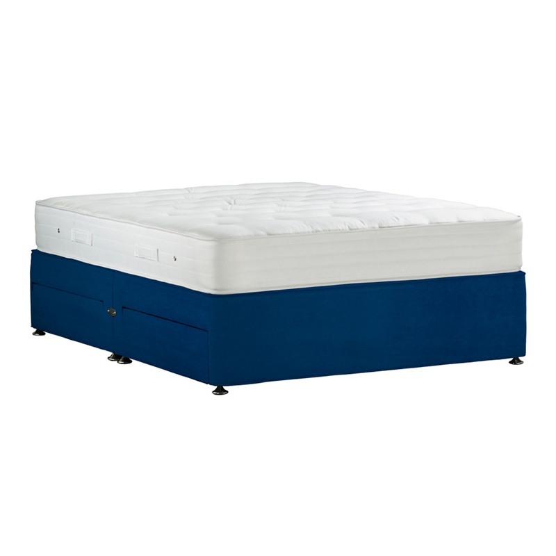 Debenhams Camel 39 Studio Pocket Ortho 39 Plush Velvet No Storage Divan Bed With Mattress