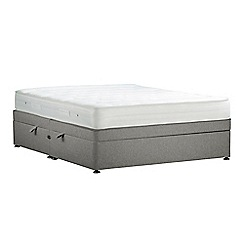 Debenhams - Light grey 'Studio Basics' flat weave side ottoman divan bed with mattress