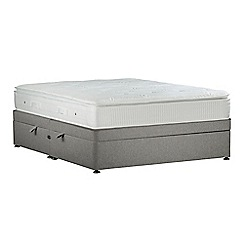 Sleepeezee - Light grey 'Gel Sensation Bronze' flat weave side ottoman divan bed with mattress