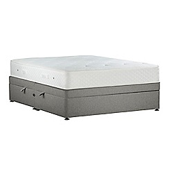 Sleepeezee - Light grey 'Lasting Memories Bronze' flat weave side ottoman divan bed with mattress