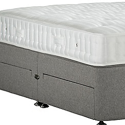 Sleepeezee - Light grey 'Perfectly Ortho Bronze' flat weave divan bed with mattress and 4 drawers