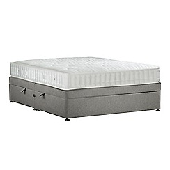 Sleepeezee - Light grey 'Perfectly Ortho Bronze' flat weave side ottoman divan bed with mattress