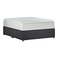 Sleepeezee - Dark grey 'Gel Sensation Gold' flat weave no storage divan bed with mattress