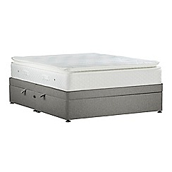 Sleepeezee - Light grey 'Lasting Memories Gold' flat weave side ottoman divan bed with mattress