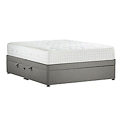 Sleepeezee - Light grey 'Natural Indulgence Gold' flat weave side ottoman divan bed with mattress