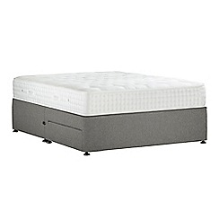 Sleepeezee - Light grey 'Natural Indulgence Platinum' flat weave divan bed with mattress and 2 drawers