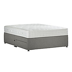 Sleepeezee - Light grey 'Perfectly Ortho Silver' flat weave divan bed with mattress and 2 drawers