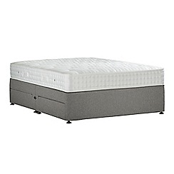 Sleepeezee - Light grey 'Perfectly Ortho Silver' flat weave divan bed with mattress and 4 drawers
