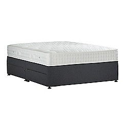 Sleepeezee - Dark grey 'Perfectly Ortho Silver' flat weave divan bed with mattress and 4 drawers