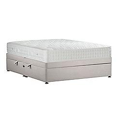 Sleepeezee - Light grey 'Perfectly Ortho Silver' plush velvet side ottoman divan bed with mattress