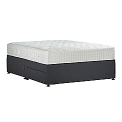 Sleepeezee - Dark grey 'Perfectly Ortho Gold' flat weave divan bed with mattress and 2 drawers