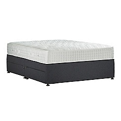 Sleepeezee - Dark grey 'Perfectly Ortho Gold' flat weave divan bed with mattress and 4 drawers
