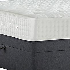 Sleepeezee - Dark grey 'Perfectly Ortho Gold' flat weave side ottoman divan bed with mattress