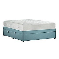 Sleepeezee - Light blue 'Perfectly Ortho Gold' flat weave side ottoman divan bed with mattress