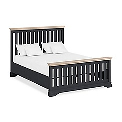 Corndell Lime oak and black 'Oxford Imperial' bed frame