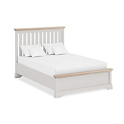 Corndell - Lime oak and grey 'Oxford Imperial' bed frame