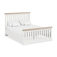 Corndell Lime oak and white 'Oxford Imperial' bed frame