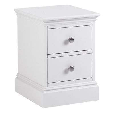 Debenhams White Oxford Narrow Bedside Cabinet With 2 Drawers