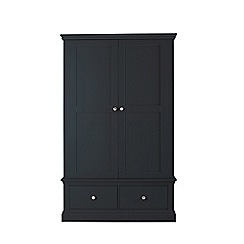 Corndell - Black 'Oxford' double wardrobe with drawers