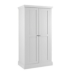 Debenhams - White 'Oxford' double wardrobe