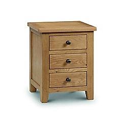 Julian Bowen - Oak 'Newbury' bedside cabinet with 3 drawers