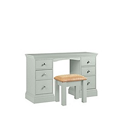 Debenhams - Pale blue 'Oxford' dressing table with stool