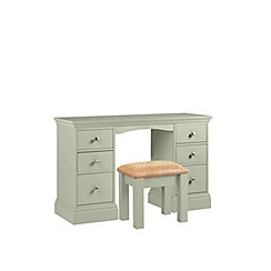 Debenhams - Pale green 'Oxford' dressing table with stool