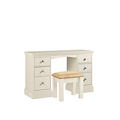 Debenhams - Cream 'Oxford' dressing table with stool