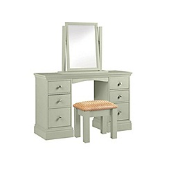 Debenhams - Pale green 'Oxford' dressing table with mirror and stool