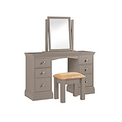 Debenhams - Dark grey 'Oxford' dressing table with mirror and stool