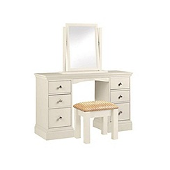 Debenhams - Cream 'Oxford' dressing table with mirror and stool