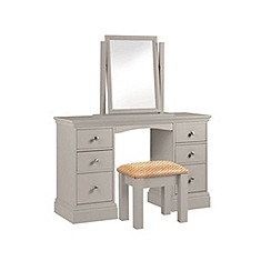 Debenhams - Taupe 'Oxford' dressing table with mirror and stool
