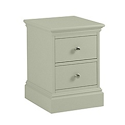 Debenhams - Pale green 'Oxford' narrow bedside cabinet with 2 drawers