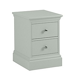 Debenhams - Pale blue 'Oxford' narrow bedside cabinet with 2 drawers